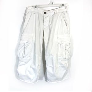 Joie White utility pocket baggy fit Cargo capris